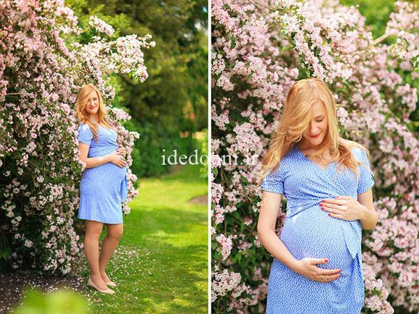 ایده عکاسی بارداری در فصل بهار
