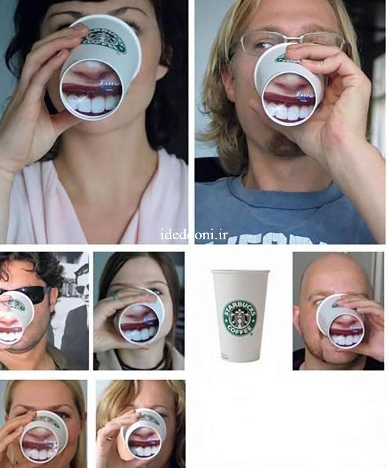 خلاقیت در تبلیغات روی لیوان