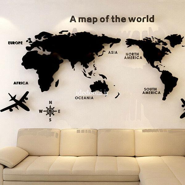 ایده تزیین دیوار آژانس گردشگری
