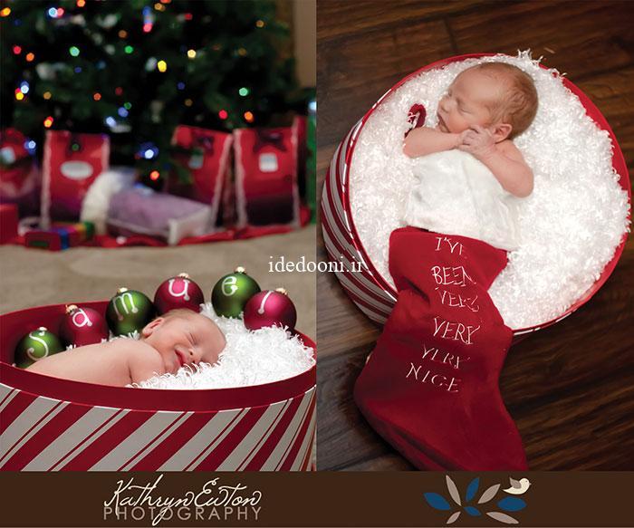 ایده عکس نوزاد و کودک در کریسمس