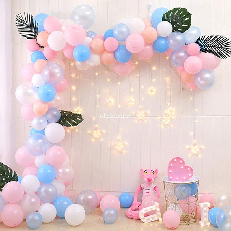 ایده بادکنک آرایی تولد دختر بچه