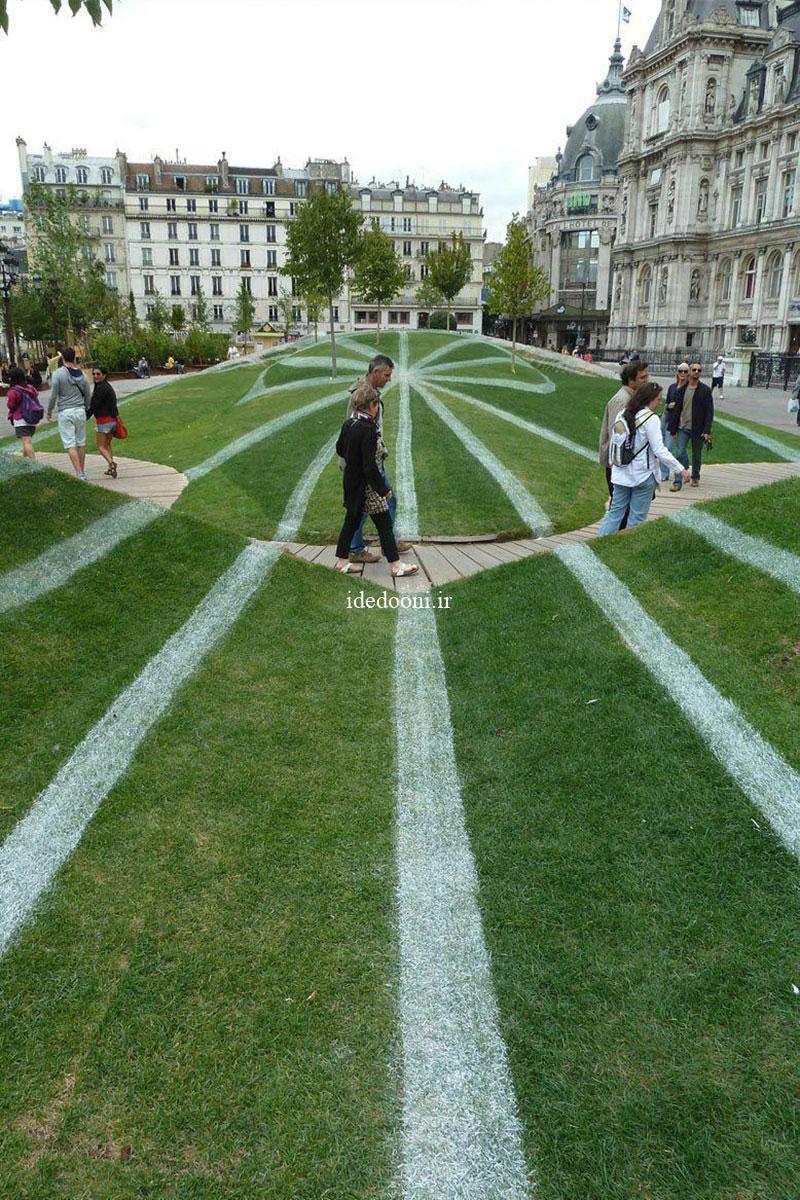 ایده طراحی فضای سبز در پارک